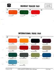 1966 1967 1968 1969 1970 INTERNATIONAL TRUCKS SCOUT PAINT CHIPS 6970 ACME 9