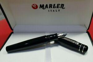 Marlen Ulysses Fountain Pen. Italian Resin, Silver. Old Collection:1999 BrandNew