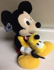 Mickey Mouse Hugs Pluto Puppy Kisses RARE Plush Toy Vintage Applause Tags Disney