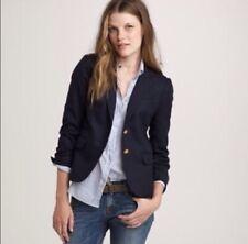 J CREW Navy Schoolboy Wool Blazer Jacket Size 4 Small