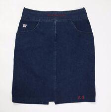 Laura Biagiotti jeans mini gonna donna w32 tg 46 blu usata skirt dress T2800