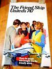 1970 FRIENDSHIP 747 UNITED AIRLINES ORIGINAL ILLUSTRATED DICK HOYT TRAVEL POSTER