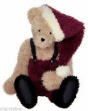 Boyds Bears Plush Nickolas S Hugsley Fabric Santa Teddy Bear 500072