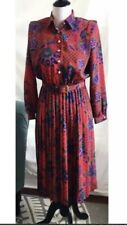 Vintage Lady Carol Petites Of New York Secretary School Marm Geek Plaid Dress