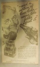 "Coca-Cola ad: ""Seems Like Folks Expect It"" 1930's ~ 6.5 x 9 inches 1930's"