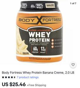 Body Fortress Whey Protein Banana Creme, 2.0 LB