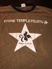 Stone Temple Pilots Men's L 2009 Uk Tour Concert Graphic Shirt Scott Weiland