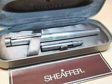 More details for sterling silver sheaffer targa, 14ct fine gold nib boxed, converter,