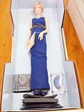 Franklin Mint Diana Princess of Wales Porcelain Portrait Doll Blue Gown