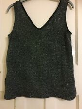 Ladies Glitter/Sparkle/Bling Top Size M Would Fit 40-42 Chest From Wallis
