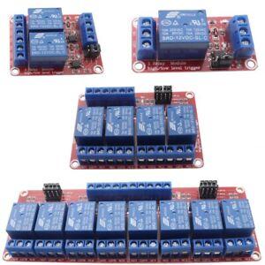 1- 2- 4- 8- Kanal Relais Oktokoppler 12V Modul active high low Karte Platine