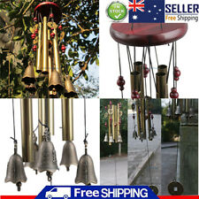 26''Large Resonant Wind Chimes 4 Tube Copper Church Bell Home Yard Garden Decor