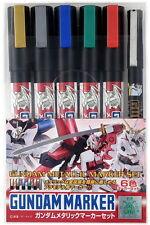 New Bandai Gundam Marker Paint Pen GMS121 Gundam Metallic Marker Six Colors Set