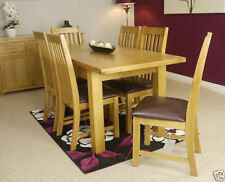 Wood Veneer Traditional Table & Chair Sets with Extending
