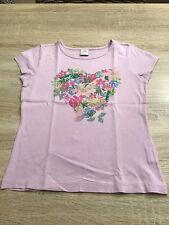 s. OLIVER Tshirt, Gr 128/134, Rosa, HERZ, Blumen, wie NEU