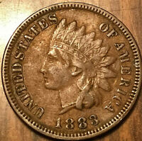1883 USA INDIAN HEAD SMALL CENT - Excellent example!
