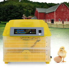 2 in1 112 Eggs Incubator Chicken Duck Bird Auto-Turning Digital Control Hatcher