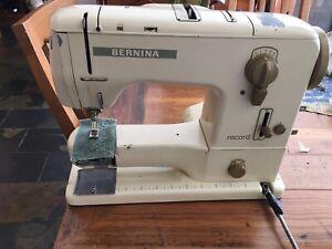 BERNINA 730 RECORD Sewing Machine, Orig CASE & MANY Accessories Feet etc Vintage