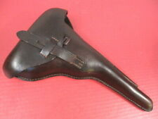 Wwi Era German Brown Leather Holster for Artillery Luger Pistol Dated 1916 Xlnt