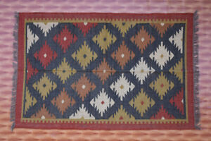 5/'6 x 6/'4 Feet Vintage Afghan Shuwall Handwoven Sqaure kilim rug  Wool Handmade Wall Hanging Kelim Rug  #M56 SIZE