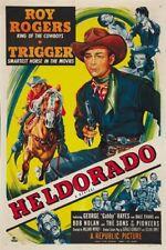 Roy Rogers Heldorado 1946 cult western movie poster print