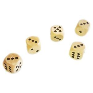 """10x Holzwürfel""""Kiefer"""" in Weiß oder Rot Maße ca 2,5cm Basteln,Dekorieren,Spielen"""
