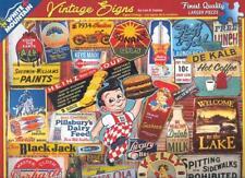 Lois B. Sutton 2015 White Mountain Jigsaw Puzzle Vintage Signs