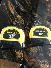 2 Stanley LeverLock  25 ft. and 16 ft. Tape Measures