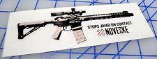 NOVESKE STOPS JIHAD STICKER Decal Sticker Rifle Gun Pistol Tactical AR-15 308