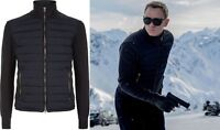 SPECTRE Daniel Craig Knitted Sleeve Bomber Jacket - James Bond Jacket