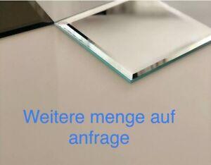 Wandspiegel Mit Facette Design 4 mm Kristal Bronze Dekor
