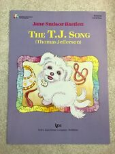 Kjos The T.J. Song (Thomas Jefferson) Piano Sheet Music Level 1 Solo 2005 WP1096
