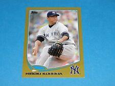 2013 Topps HIROKI KURODA #318 Mini Gold SP/62 NY Yankees - Hiroshima TOYO CARP