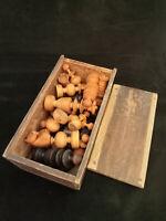 Ancien Jeu d'échecs Régence bois - dimensions roi 8.3 cm - usure - Chess