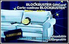 BLOCKBUSTER COUCH POPCORN & MOVIE RETIRED RARE COLLECTIBLE GIFT CARD