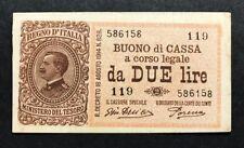 2 lire vittorio emanuele III serie 119 14 03 1920 q.spl lotto 342