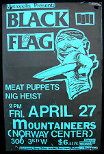 BLACK FLAG Norway Center SEATTLE 1984 CONCERT POSTER Punk AUTOGRAPHED Nirvana