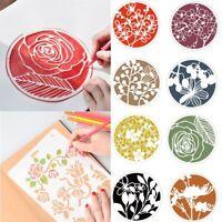 Scrapbooking Plastic Stencils Hollow Ruler Painting Template Flower Pattern