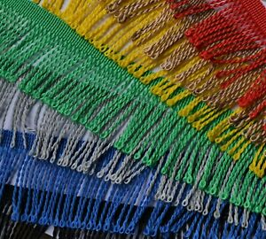BULLION FRINGE TRIM 6 cm wide - 22 COLOURS, clothing dance furnishings curtains