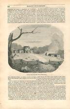 Daniel Boone Ranch ferme dans l'état du Kentucky et de Virginie USA GRAVURE 1846
