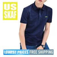 Lacoste Men's NWT Classic Fit BLUE CHINE 3gf 100% Cotton Piq Polo Shirt 5 LARGE