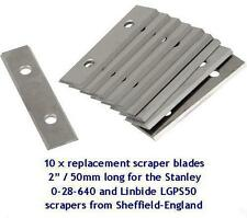 "20 x replacement scraper blades 2"" / 50mm to fit LINBIDE & STANLEY scrapers"