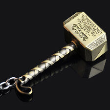 1pc Marvel The Avengers Thor Thor's Hammer Metal Keyring Keychain Gift Gold