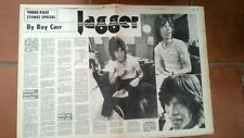 ROLLING STONES 'Mick in '72'  ARTICLE / clipping