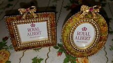 royal albert old country roses 2 mini chintz picture frames
