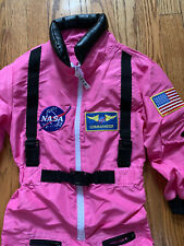 Girls Get Real Gear Dress Up Kids NASA Halloween Costume SIZE 4-6 PINK ASTRONAUT