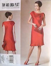 Vogue Pattern American Designer Linda Platt V1208, Dress Sz 6,8,10,12 - NEW