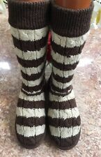 UGG Australia Women 5822 Classic White Brown Sweater Winter Boots Sz 9 EUC, $140