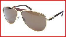 ZILLI Sunglasses Titanium Acetate Leather Polarized France Made ZI 65021 C06