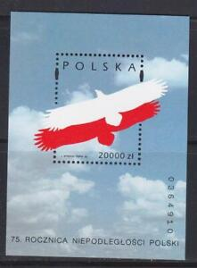 POLAND 1993 BIRD STAMPS ANNIVERSARY INDEPENDENCE SS MNH - BIRDL253